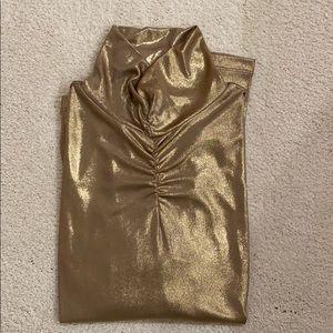 Erin London Gold Turtleneck size large